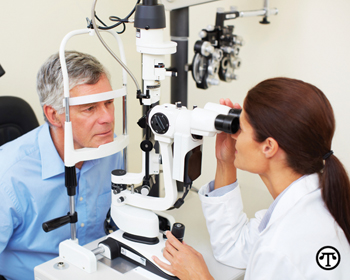 People with diabetes should get their eyes checked regularly.