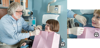 Always ask for a disposable, one-time-use bib holder from your dental professional.