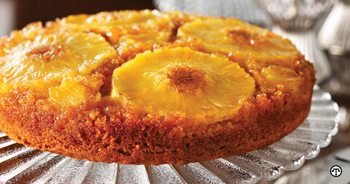 Pineapple Upside Down Cake: a more healthful version is a treat today.