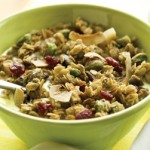 Coconut-Pistachio Granola can be a breakfast your heart and taste buds will love.