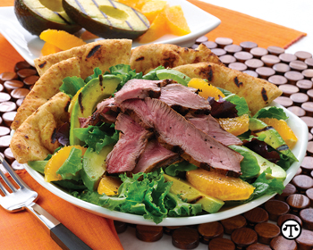 Pairing California avocados and lean beef gives your body more of the nutrients you need.
