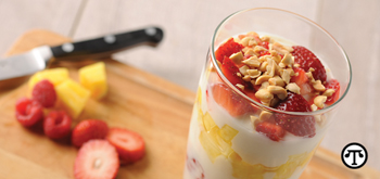 Peanuts turn this parfait into an energy-packed dessert.