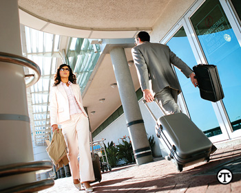 When offered a choice of travel perks, the business types tend to choose more travel.