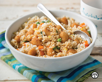 After-School Shrimp Fried Rice is an ideal midweek meal or hearty snack.