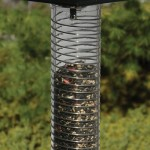 It's not a flight of fancy: An ingenious device keeps squirrels far from your birdfeeder with the touch of a button.