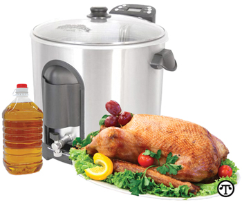 For a delicious, tender and juicy bird with crispy skin, deep-fry your turkey in peanut oil.