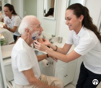 Some home care is provided by licensed health care professionals