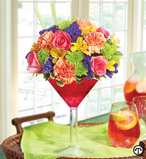 You may be the toast of the office when you send this pretty Sangria Bouquet.