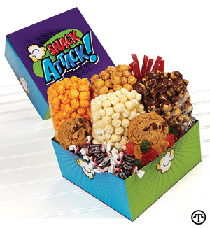 Send someone you care for a few sweets plus popcorn in a variety of flavors.