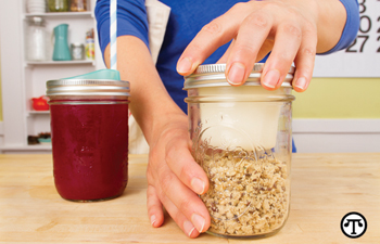 Turn mason jars into environmentally friendly cups and lunchboxes.