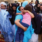 Family members from Polisario-run refugee camps reunite with loved ones in Morocco.